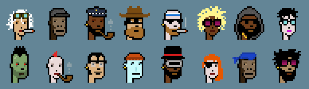 CryptoPunks - Collectible NFT Characters on the Ethereum Blockchain
